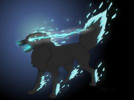 Ice wolf by DracoWolf0-0
