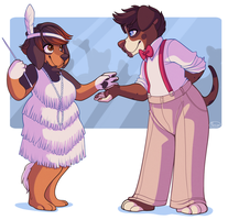 Care for a dance? - Commission by strawberryneko33