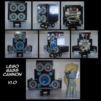 MLP Transforming Lego Bass Cannon by rathgood