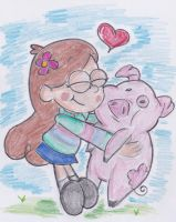 Mabel and Waddles by ImmaRainbowNinja