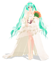 wedding dress plays in the distance by Crystallyna