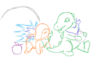 pokemon mystery dungeon WIP by Engelmoon