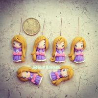 Rapunzel miniature charms by Mameah