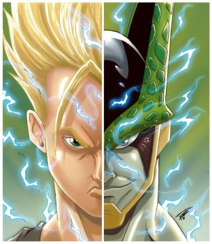Gohan Vs Cell DBZ Colors by Empienada