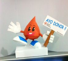 blood donor mascot papercraft by nandablank