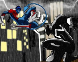 WallCrawler Vs NightCrawler by microwaved-infinity