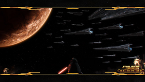 Sith Fleet over Korriban Wallp by Tenacity1