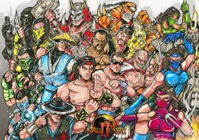 Mortal Kombat 2 characters by Sw-Art