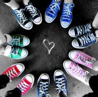 Colourful Converses by Bendarksilver