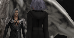 Riku and Sephiroth by Hatredboy