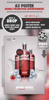 A3 PSD Drinks Promotion Advert by quickandeasy1
