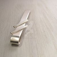 Two lines tie clip by Jealousydesign