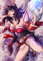 Ahri by FleetingThunderBlade