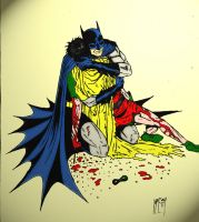 death of robin - colored by UGCcomics