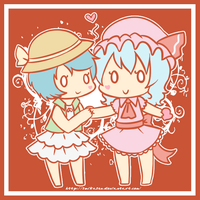 Xan x Remilia by Suikasen