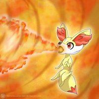 Fennekin by TheStormUnleashed