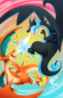 MEGA CHARIZARD SKY BATTLE by Versiris