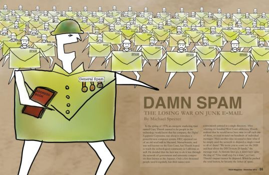 Damn Spam - Editorial Design by Lish-55