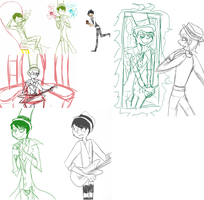 Once-ler sketchdump by gothicEMerald1
