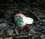Green agate ring by solostudio