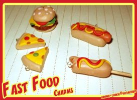 Fast Food Charms :Clay: by akuma-cookie