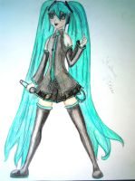 Hatsune Miku by lullabyly