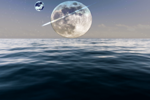 Moon over Water Wallpaper by Riu-Sakurazaki