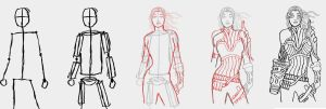 Step by Step Character Concept by Suuxe