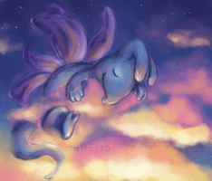 Sleeping in the Clouds by Xeikkeiu