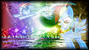 Rainbow Dash Sparkly Background by BCMmultimedia