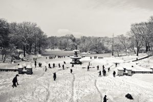 Bethesda Fountain in the Snow by mfortunato