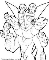 Ash-Greninja and Zygarde Cores WiP by Blue-Lopunny