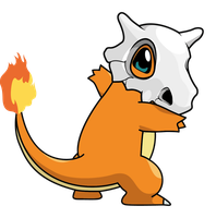 Charmander-Cubone by Bunny--Vomit
