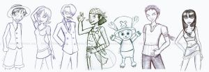 One Piece_Sketches by Tanis711