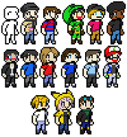 Youtubers! by WolfryHedgies