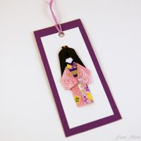 Sold - Bookmark Japanese Shiori Ningyo purple by SuniMam