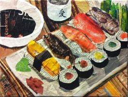 Sushi collage by johnstiles