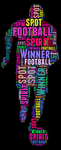 Football typography color by somsongart