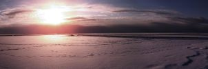North sea ice Panorama (rework) by TRAEMORE