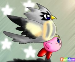 Kirby and Coo by Fushidane
