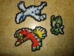 Pokemon Sprite Magnets - Lugia, Ho-oh, Celebi by UWorlds