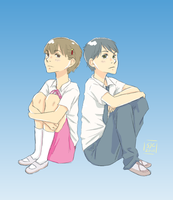 A boy and a girl by Samijc