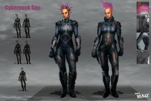 Futurepunk Female Gunfighter by jubjubjedi