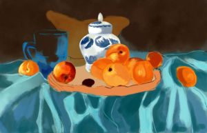 Unfinished still life by confusea