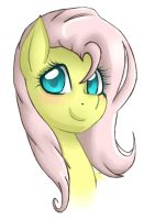 Fluttershy Headshot by Doomcakes