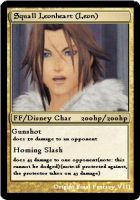 KH2FM+ Cards, Leon by sno-the-hedgehog