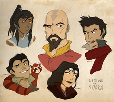 Legend of Korra Doodles by WithoutName
