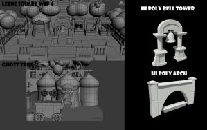 Chrono Trigger - Leene Square WIP 4 by FrZnChAoS
