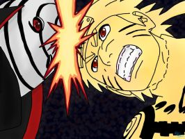 Naruto vs Tobi by epicminion