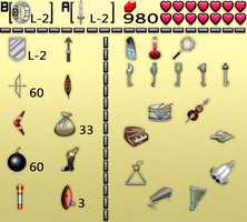 Link's Awakening Inventory by BLUEamnesiac